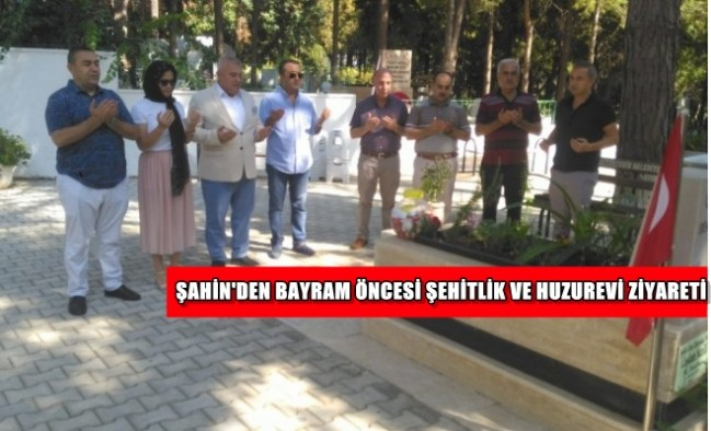 Başkan Mehmet Şahin'den bayram öncesi anlamlı ziyaret