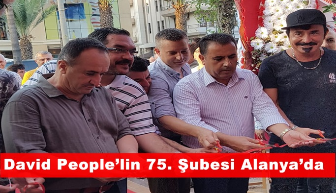 David People Alanya'da 75. Şubesi açtı