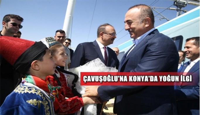 Mevlüt Çavuşoğlu'na Konya'da yoğun ilgi!