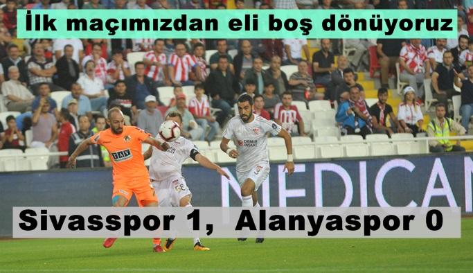 Sivasspor 1, Alanyaspor 0