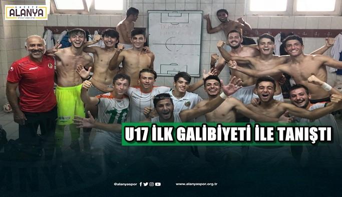 Alanyaspor U17 takımı ilk galibiyetiyle tanıştı