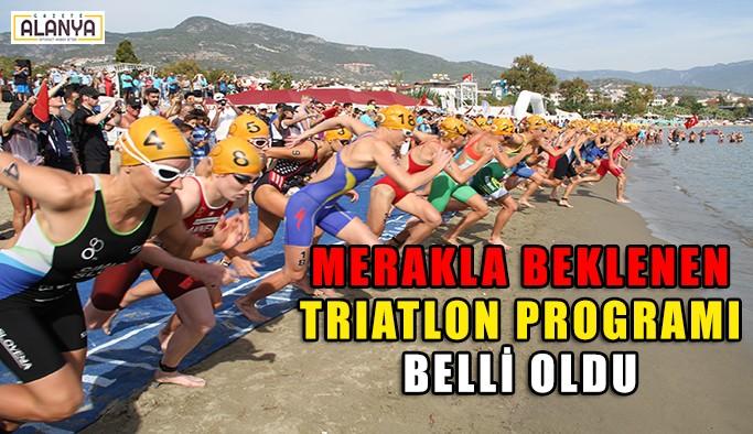 Triatlon programı belli oldu