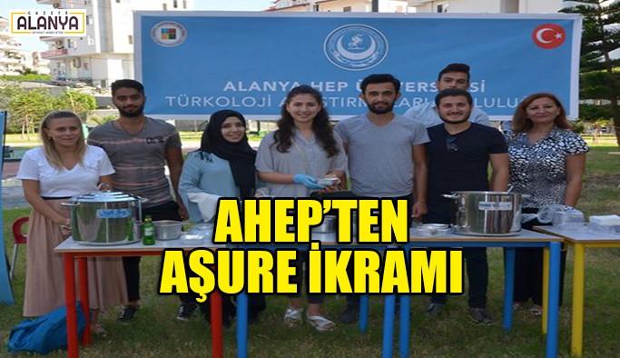 AHEP'ten aşure ikramı