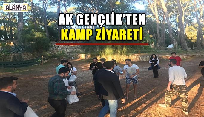 Ak Gençlik'ten kamp ziyareti