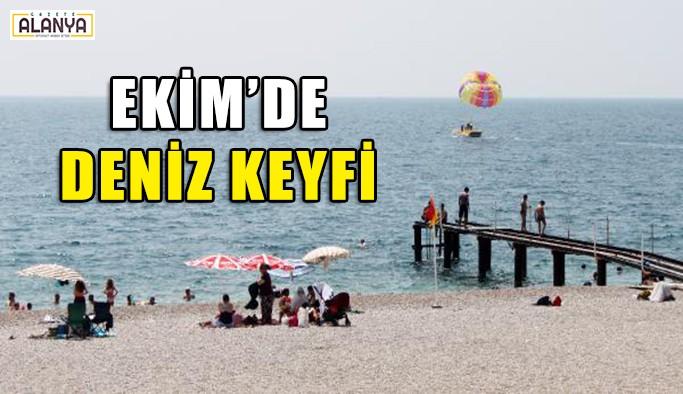 Antalya'da Ekim'de deniz keyfi
