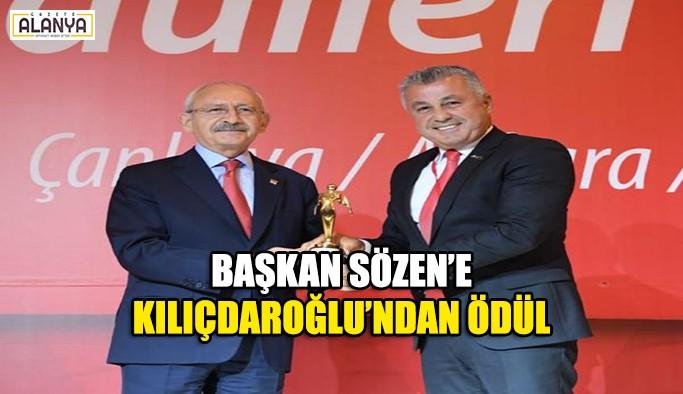 Başkan Sözen'e Kılıçdaroğlu'ndan ödül