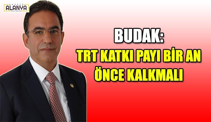 Budak: TRT katkı payı bir an önce kalkmalı