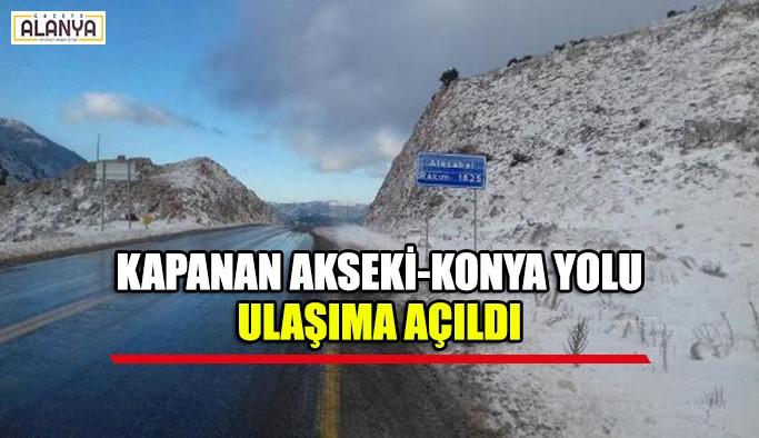 Kapanan Akseki-Konya yolu ulaşıma açıldı