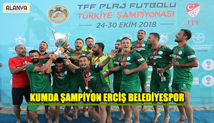 Kumda kazanan Erciş Belediyespor