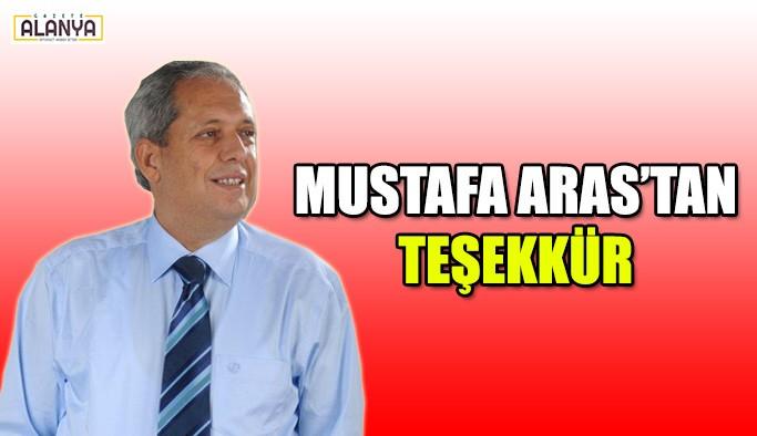 Mustafa Aras'tan teşekkür !
