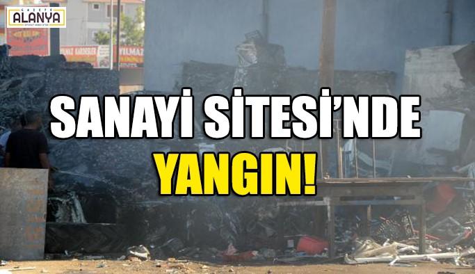 Sanayi'de yangın