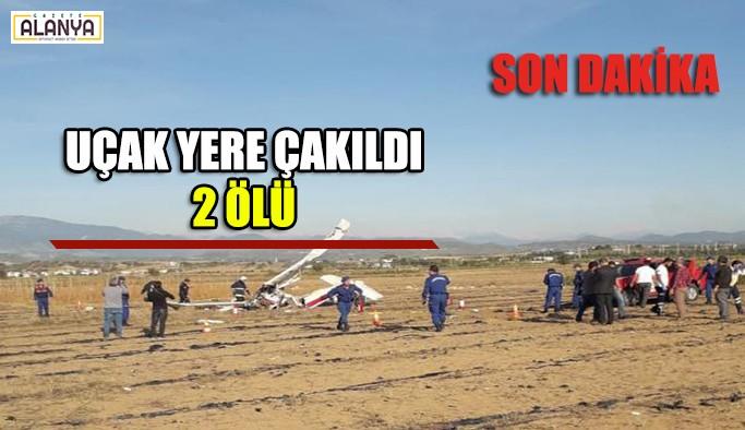 Uçak yere çakıldı  SON DAKİKA