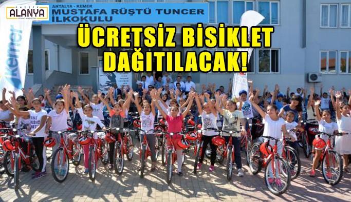 Ücretsiz bisiklet dağıtılacak!