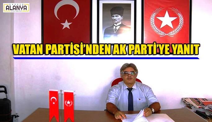 Vatan Partisi'nden AK Parti'ye yanıt