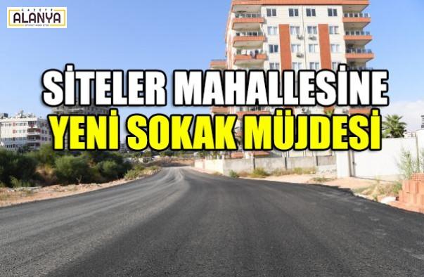 Yeni sokak müjdesi