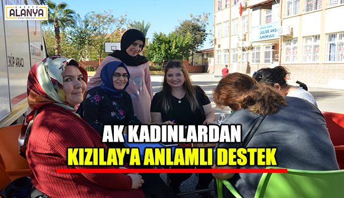 AK Kadınlardan Kızılay'a anlamlı destek