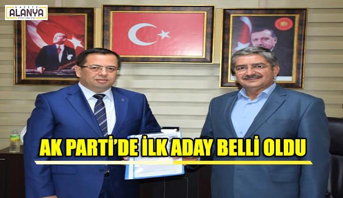 AK Parti'de ilk aday belli oldu