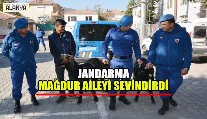 Jandarma mağdur aileyi sevindirdi