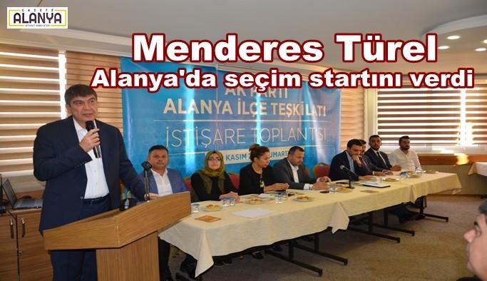 Menderes Türel Alanya'da seçim startını verdi