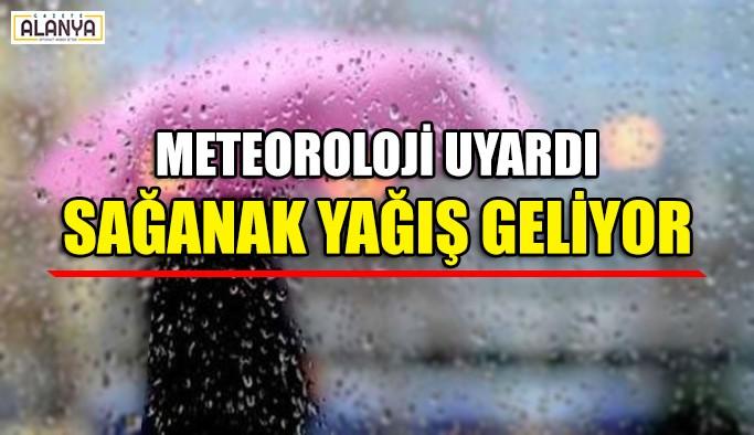 Meteoroloji uyardı Sağanak yağış geliyor