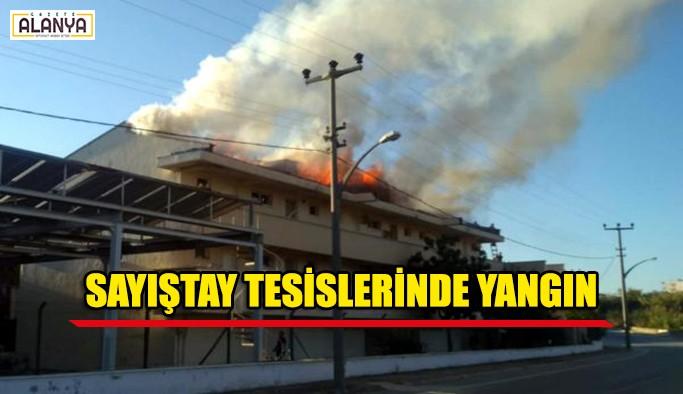 Sayıştay tesislerinde yangın