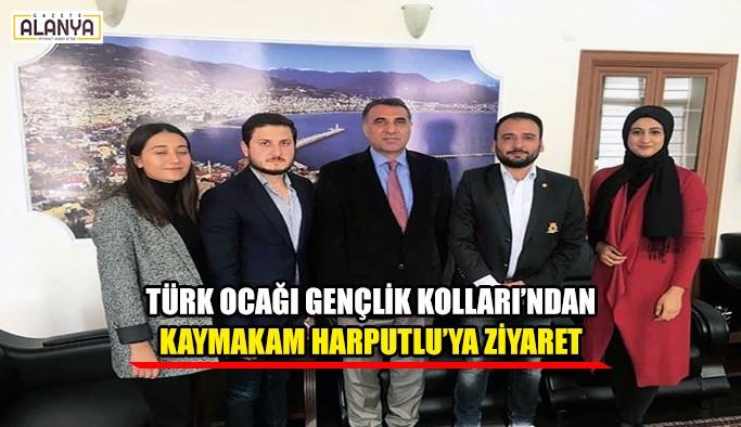 Türk Ocağı Gençlik Kolları'ndan Kaymakam Harputlu'ya ziyaret