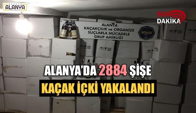 Alanya'da 2884 şişe kaçak içki yakalandı