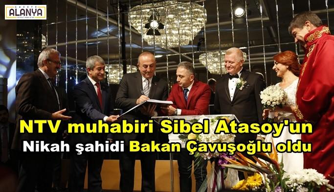 Sibel Atasoy'un nikah şahidi Bakan oldu