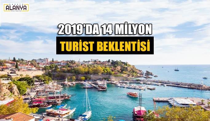 2019'da 14 milyon turist beklentisi