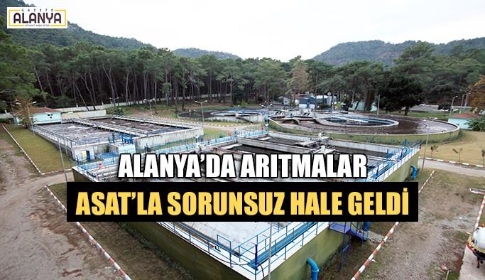 Alanya'da arıtmalar ASAT'la sorunsuz hale geldi