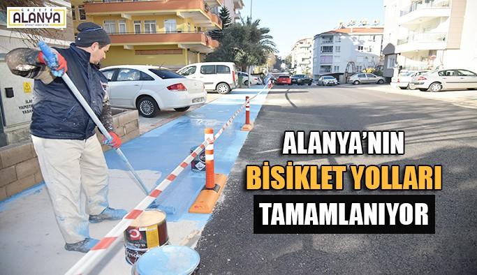 Alanya'nın bisiklet yolları tamamlanıyor