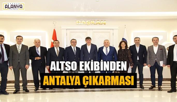 ALTSO ekibinden Antalya çıkarması