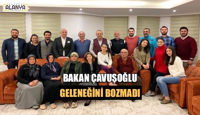 Bakan Çavuşoğlu geleneği bozmadı