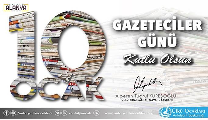Başkan Küreşoğlu'ndan Gazeteciler Günü Kutlaması