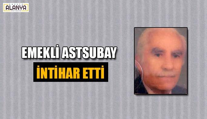 Emekli astsubay tabancasıyla intihar etti