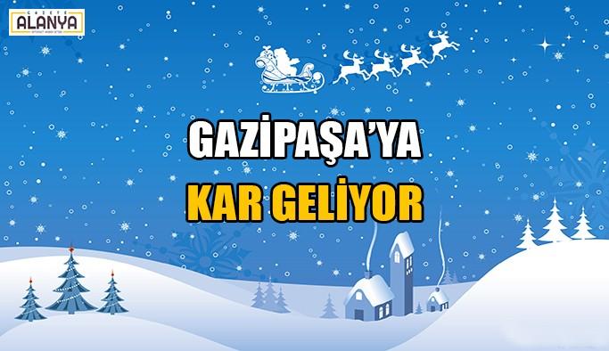 Gazipaşa'ya kar geliyor