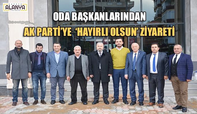 Oda Başkanlarından AK Parti'ye  'hayırlı olsun' ziyareti