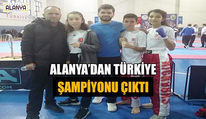Alanya'dan Türkiye Şampiyonu çıktı