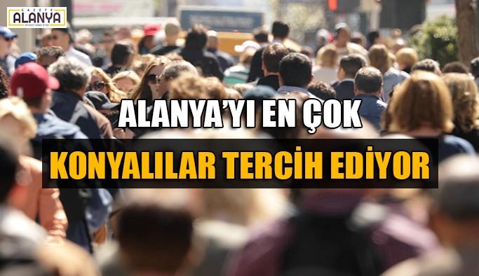Alanya'yı en çok Konyalılar tercih ediyor
