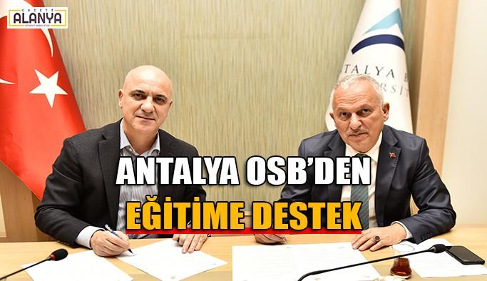Antalya OSB'den eğitime destek