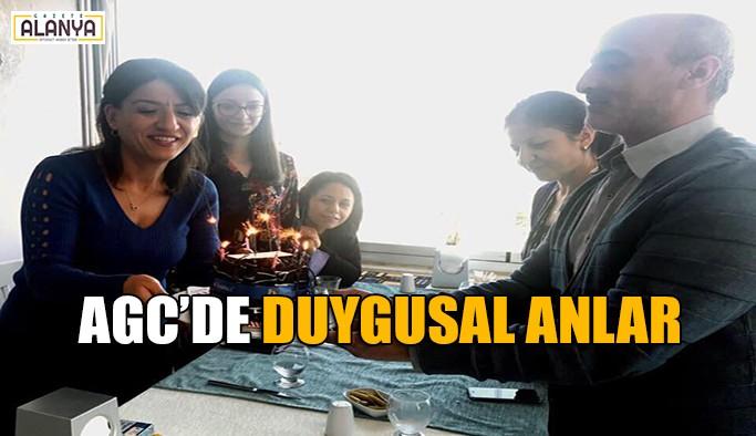 AGC'de sürpriz doğum günü kutlaması