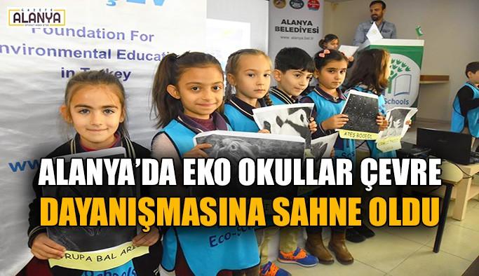 Alanya'da Eko Okullar çevre dayanışmasına sahne oldu