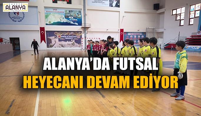 Alanya'da futsal heyecanı devam ediyor