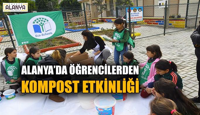 Alanya'da öğrencilerden kompost etkinliği