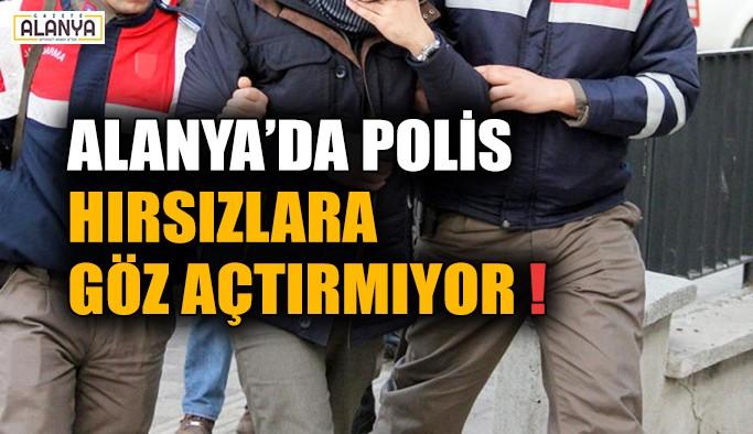 Alanya'da polis hırsızlara göz açtırmıyor