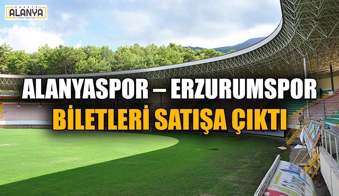 Alanyaspor – Erzurumspor biletleri satışa çıktı