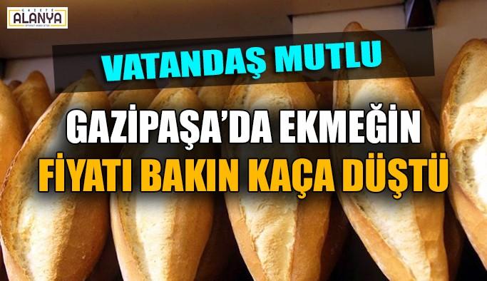 Gazipaşa'da ekmek fiyatları düştü