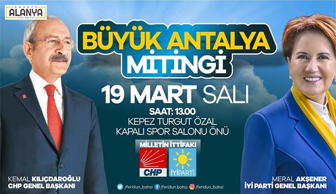 Kılıçdaroğlu ve Akşener'den ortak miting