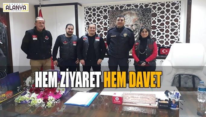 Motospor Kulübü'nden Alanya Emniyetine ziyaret