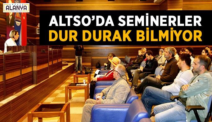 """ALTSO'dan """"Satış Teknikleri"""" semineri"""